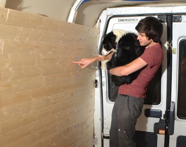 Fitting wooden cladding to the van interior - Vandog Traveller
