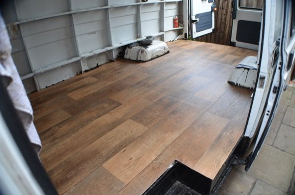 The finished vinyl floor