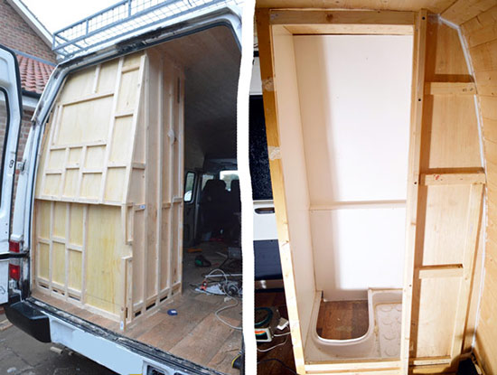 Building The Shower Enclosure Vandog Traveller