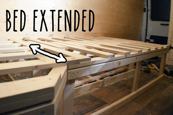 Bed extended