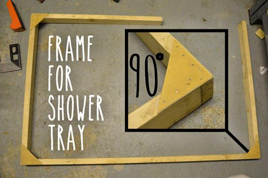 Frame for shower tray
