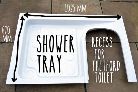 Thetford Shower Tray Dimensions