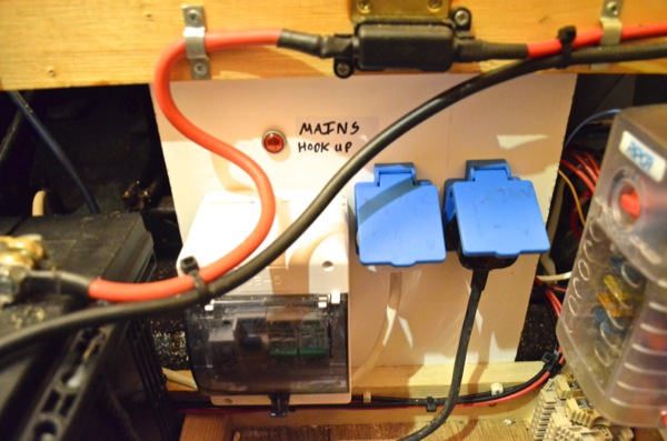 Campervan 12v electrical system installation and wiring consists off an rcd two breaker two sockets and a 240v mains indication light the rcd and breakers are housed in the garage consumer unit left asfbconference2016 Image collections