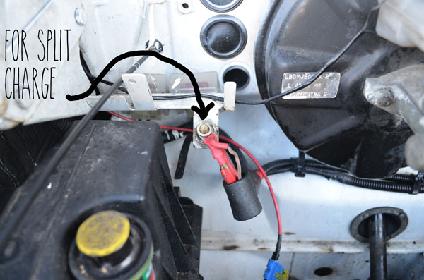 Campervan 12v electrical system installation and wiring relay split charge feed ldv cheapraybanclubmaster Choice Image