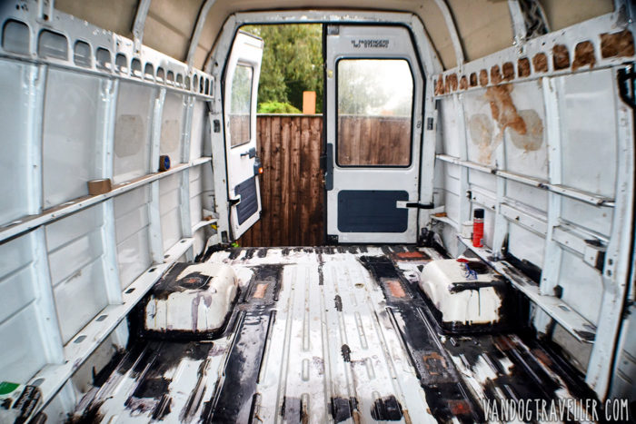Empty LDV van before conversion