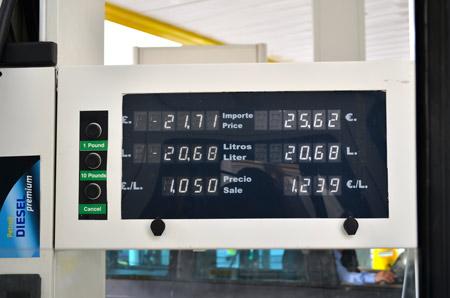 Cheap fuel. £1.05 per litre of Diesel.