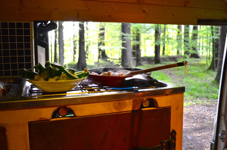 I love cooking outside but campervan cooking really is the best of both worlds