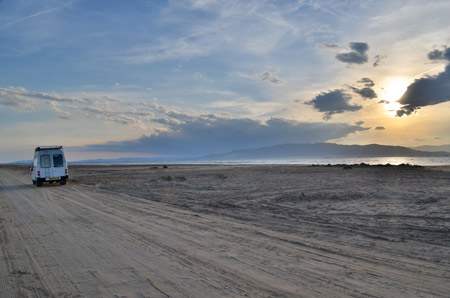 We drove across this huge stretch of sand for 5 miles and camped here for 2 nights. See post