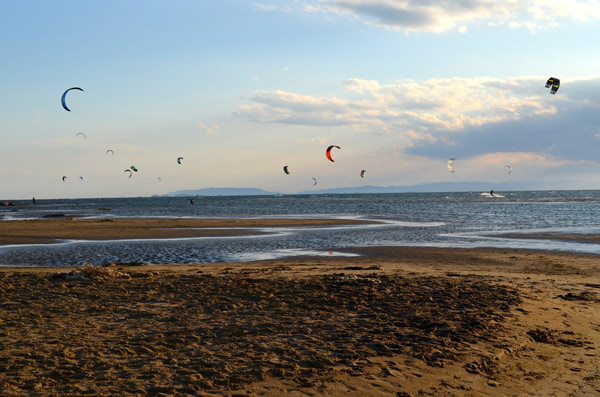 Nearer to the land is also one of the best places for kite boarding due to the shallow, calm water and plenty of wind.