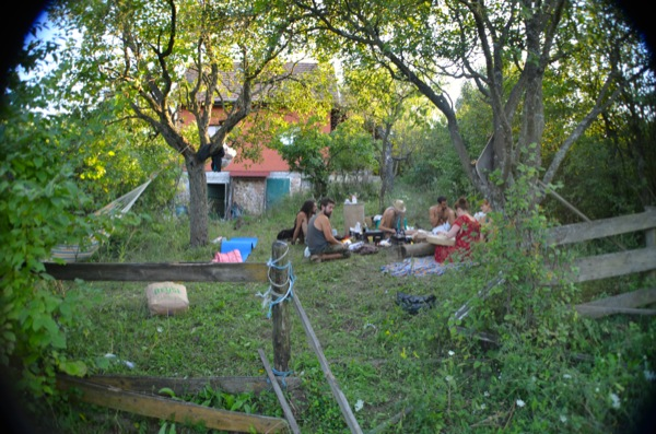 8/8/14 -- A couple of days on Adam's off-grid farm. So much nice food cooked on the open fire.