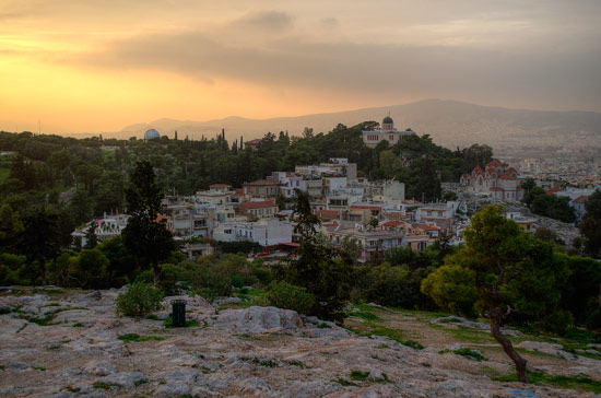 Areopagus Hill aka Mars Hill. Looking West-ish
