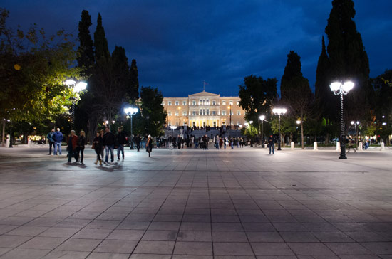 Syntagma Square, looking towards the parliament building