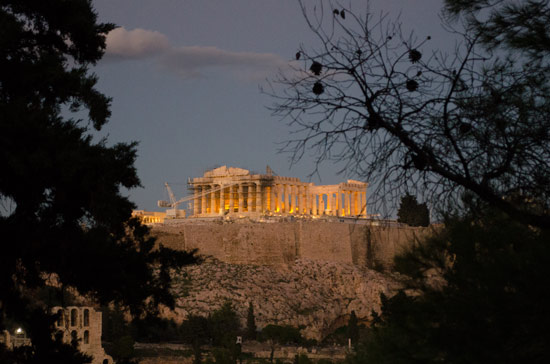 View of the Acropolis from Filopappou Hill