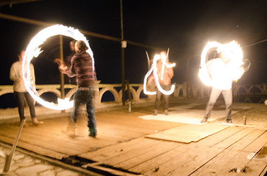 Spiros, me and Fernanda doing a fire show on the terrace. I stopped juggling when I thought I had to grow up. Now I'm juggling every day, like I did 10 years ago, and I love it!