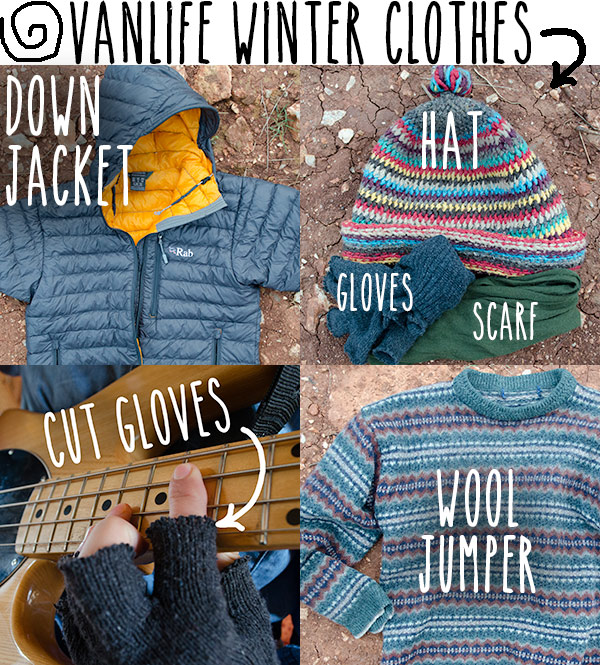 warm clothes for living in a van