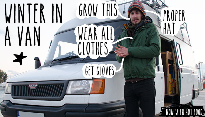 Living in a van during winter