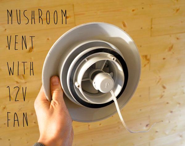 Mushroom Vent With 12v Fan