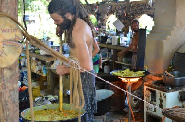 David cooking