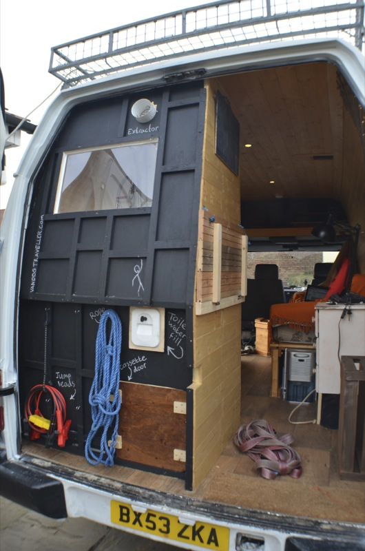 van conversion shower and toilet room