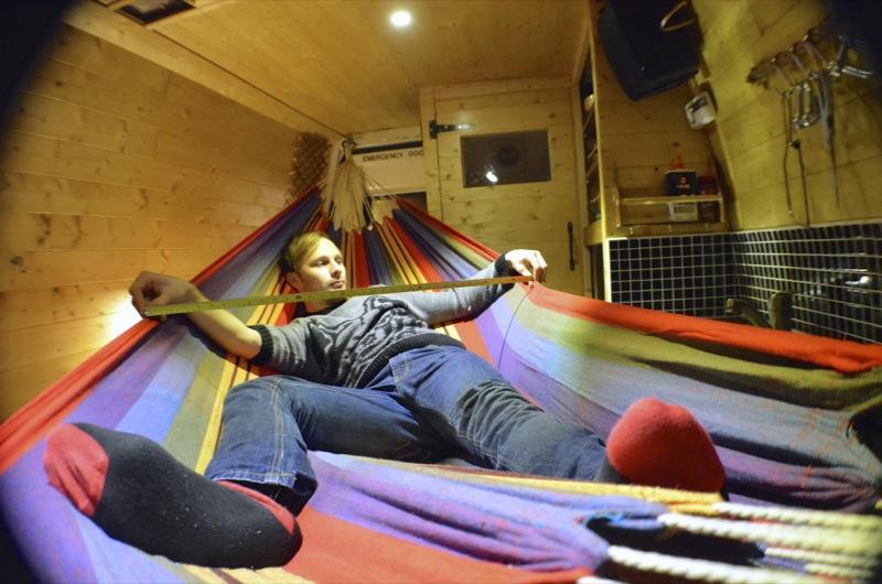hammock in a van