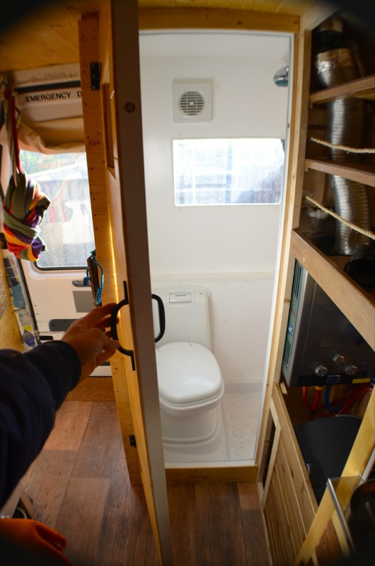 toilet and shower in my van