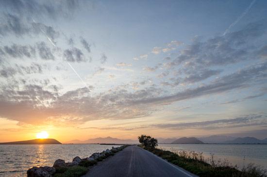 Ambracian-gulf-road-sunset