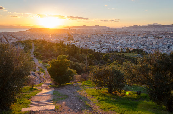 greece-in-a-campervan-athens-sunset