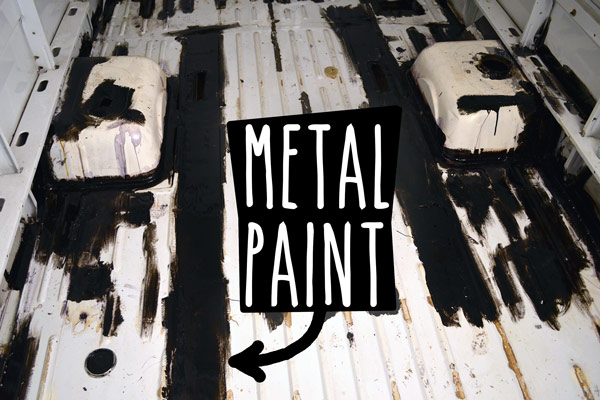 Metal paint on my van floor