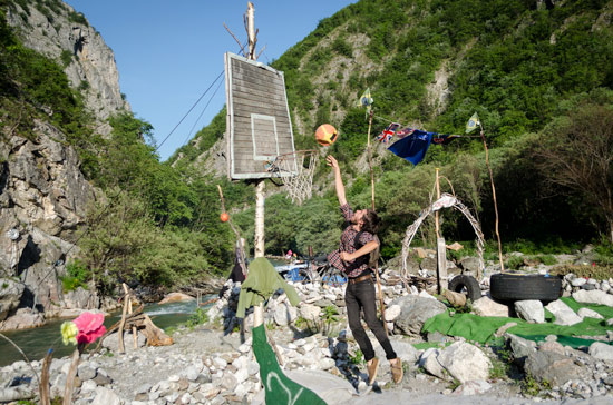 Living on a DIY riverbed island in the mountains of Kosovo ...