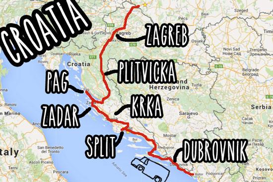 croatia-by-campervan-map