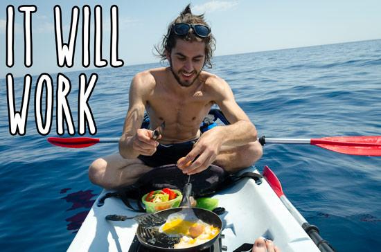 kayak-lunch