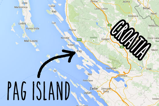 pag-island-croatia-map