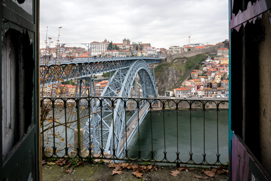 Porto-portugal-by-van-bridge-from-deralict-building
