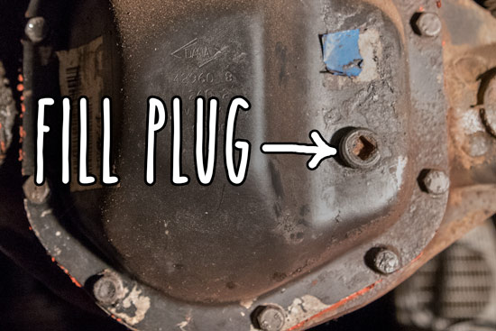 check-and-fill-rear-differential-oil-plug