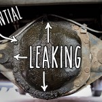 Fixing the rear differential oil leak – resealing with RTV silicone