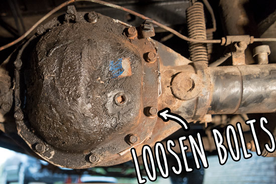 rear-differential-leak-repair-loosen-bolts