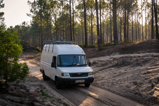 travelling-portugal-by-campervan-forest-trees