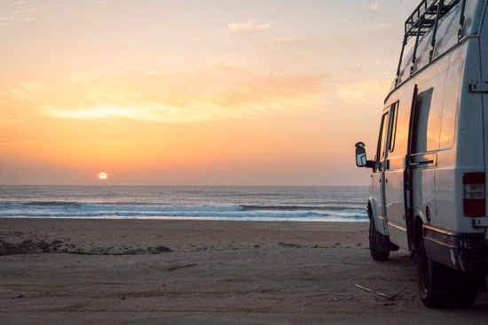 travelling-portugal-by-campervan-sunset-nazare