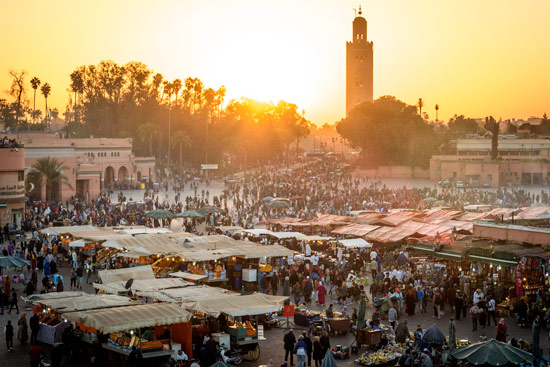 morocco-campervan-marrakech-jemma-el-fna-square-sunset
