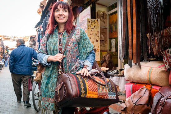 morocco-campervan-marrakech-shopping-clothes