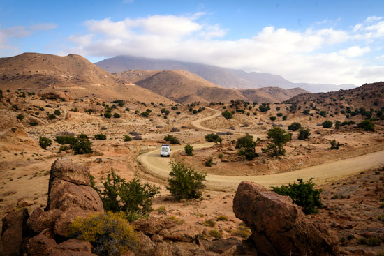 blue-rocks-tafraoute-morocco-by-campervan-winding-road
