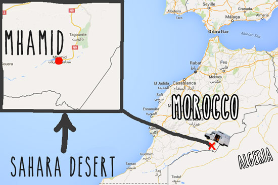 morocco-by-campervan-sahara-desert-map-mhamid
