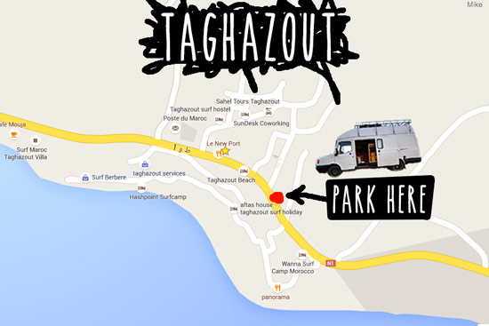 taghazout-morocco-by-campervan-parking