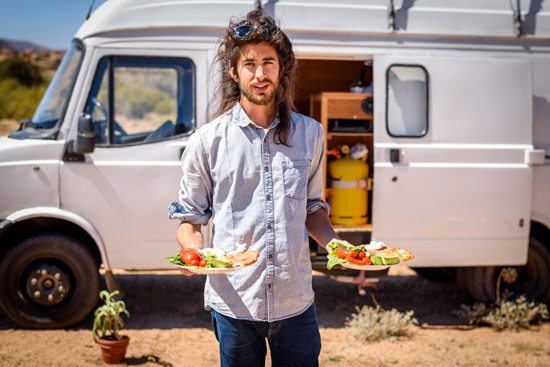 vanlife-leah-shann-in-morocco-breakfast-vandog-mike-hudson