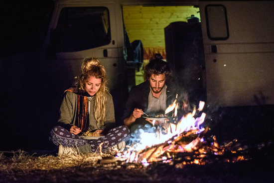 vanlife-leah-shann-in-morocco-camp-fire
