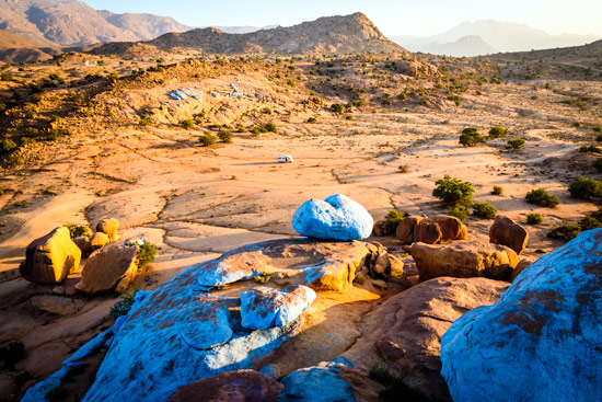 Morocco-by-campervan-blue-rocks