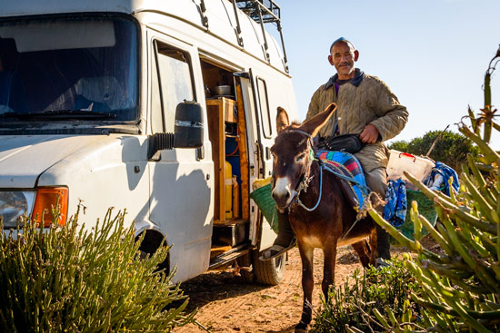 Morocco-by-campervan-donkey