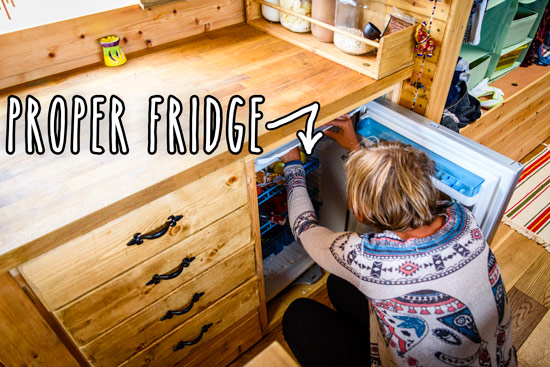 living-in-a-converted-bus-home-fridge