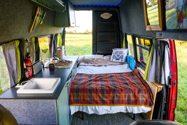 diy-campervan-ford-transit-bed-fold-down