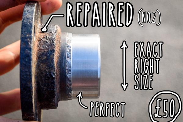 campervan-oil-leak-fixing-pinion-flange-metal-sleeve-repair-pinion-flange